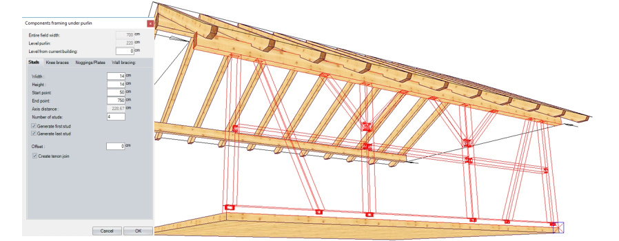 Parametric Timber Framing Pergola